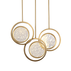 Подвесной светильник Delight collection Moon Light MD8700-3A brushed gold
